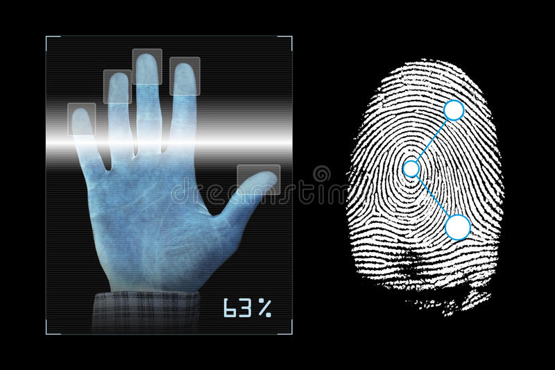 Biometria ilustração stock