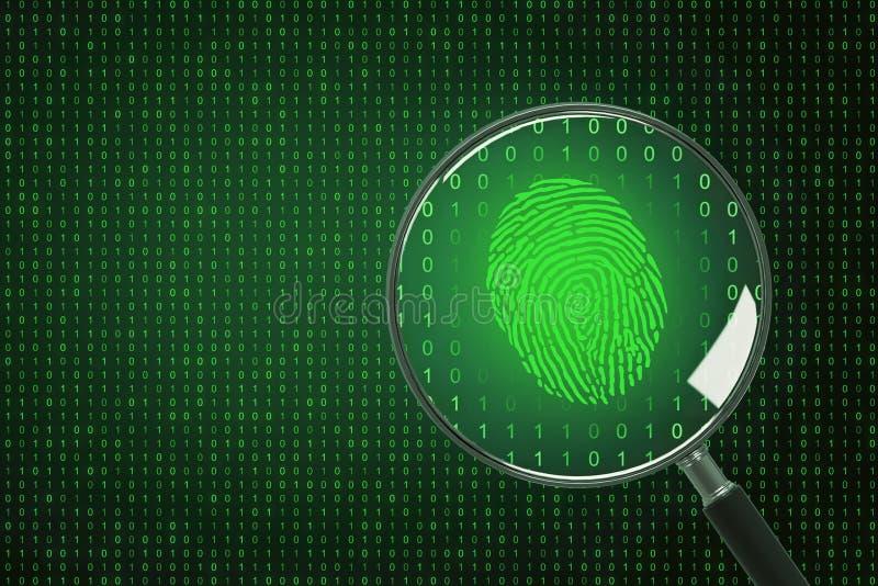 Biometria i obliczać pojęcie royalty ilustracja
