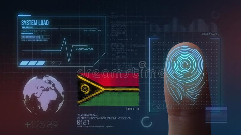 Biometric avläsande IDsystem för fingeravtryck Vanuatisk nationalitet royaltyfria bilder