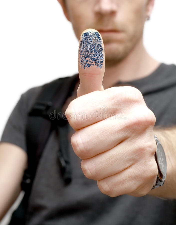biometric deltagare arkivfoto