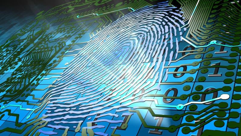 Download Biometric Fingerprint-based Identification Stock Illustration - Image: 21657340