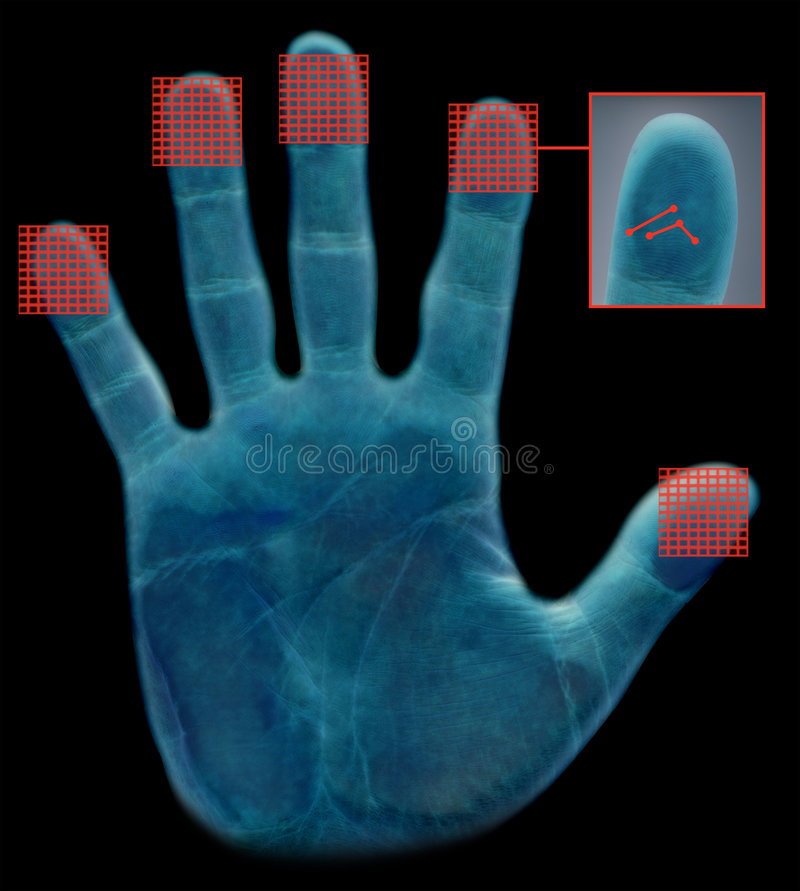 Biometric fingerprint scanner royalty free stock photo