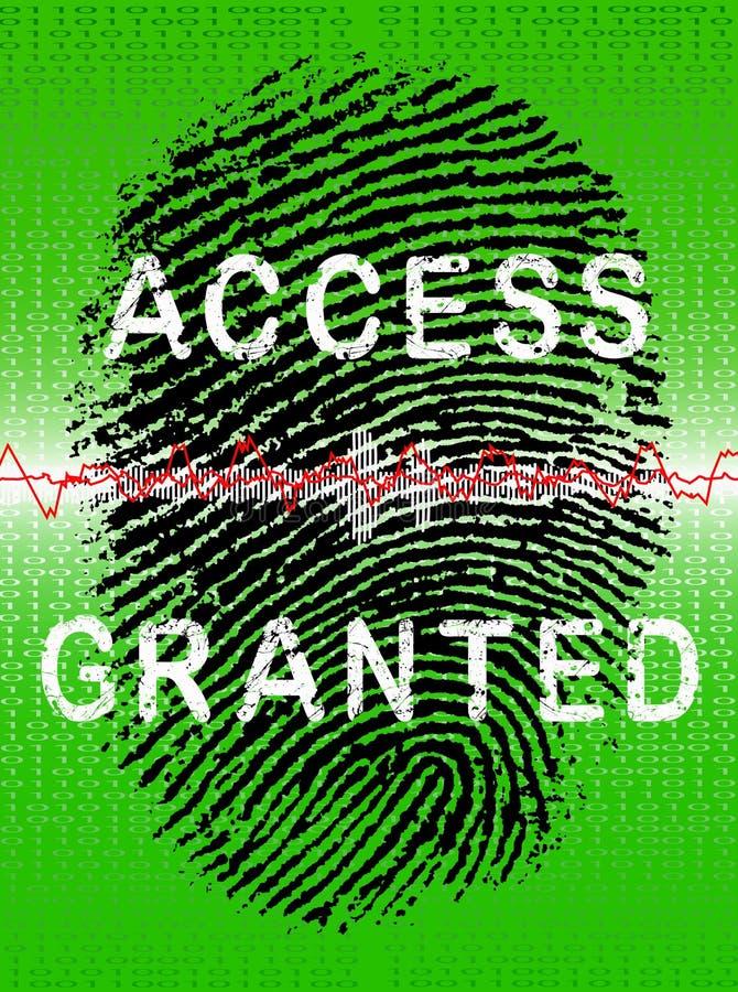 biometric grön bildläsare vektor illustrationer