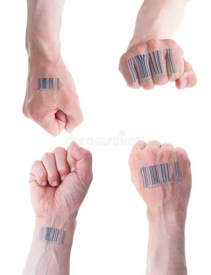 Biometric ID-begrepp. royaltyfri bild