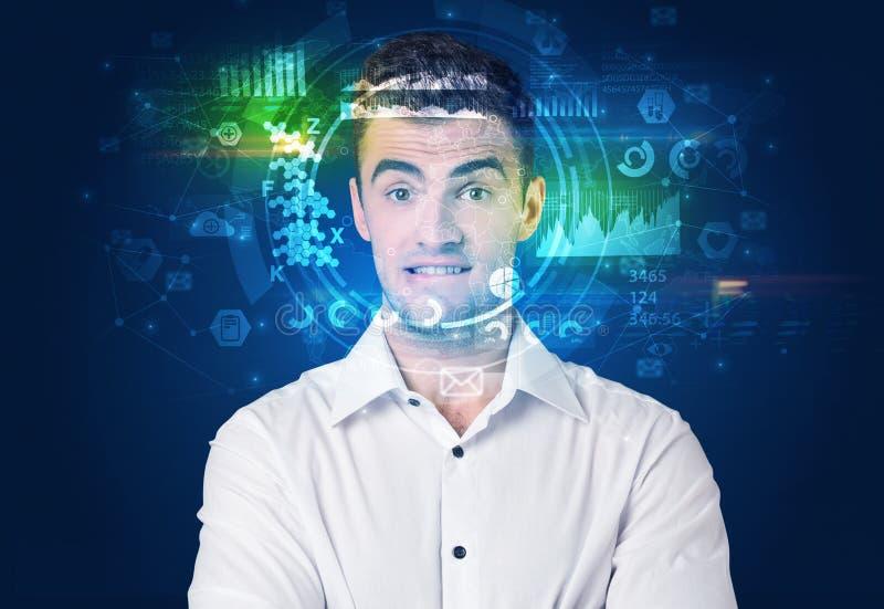 Biometric ID och ansiktsbehandlingerk?nnande royaltyfria bilder