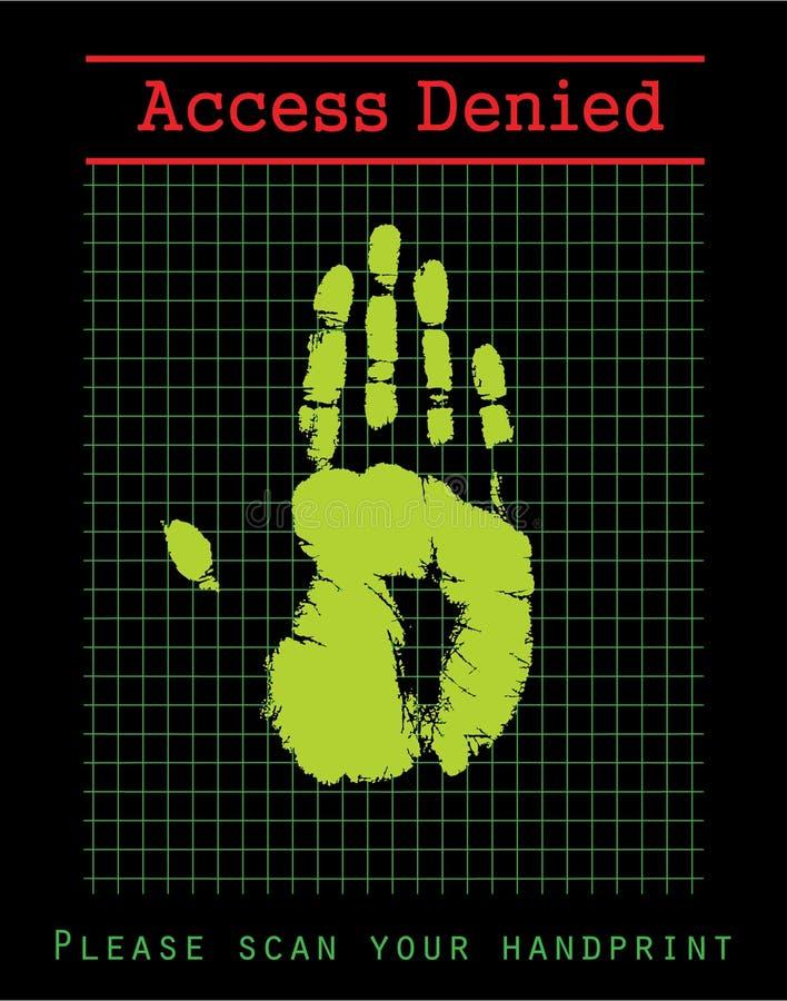 biometric säkerhet vektor illustrationer