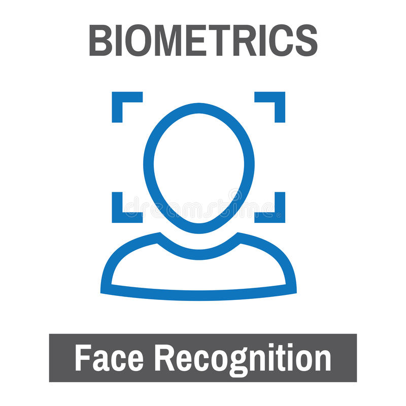 Biometric Scanning Image Facial Recognition. S stock illustration