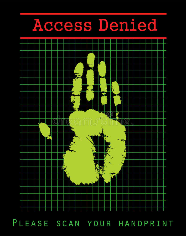 Biometric Security. Hand scanner - illustration vector illustration