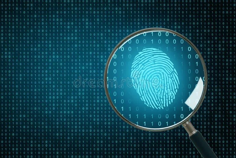 Biometrics and computing backdrop vector illustration