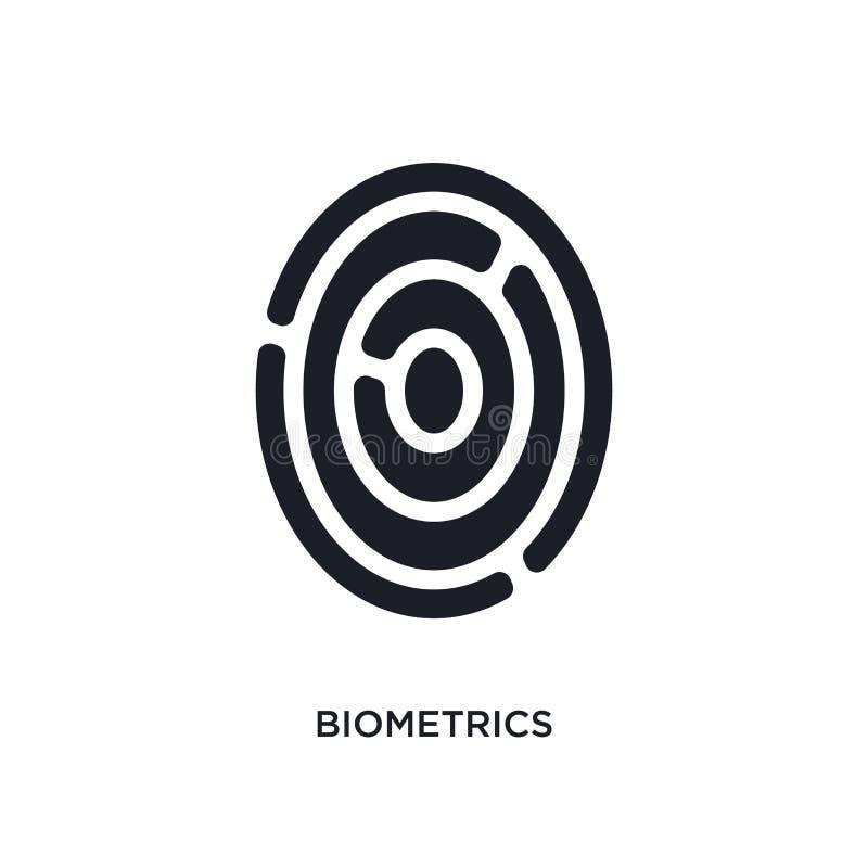 Biometrics isolated icon. simple element illustration from artificial intellegence concept icons. biometrics editable logo sign. Symbol design on white vector illustration
