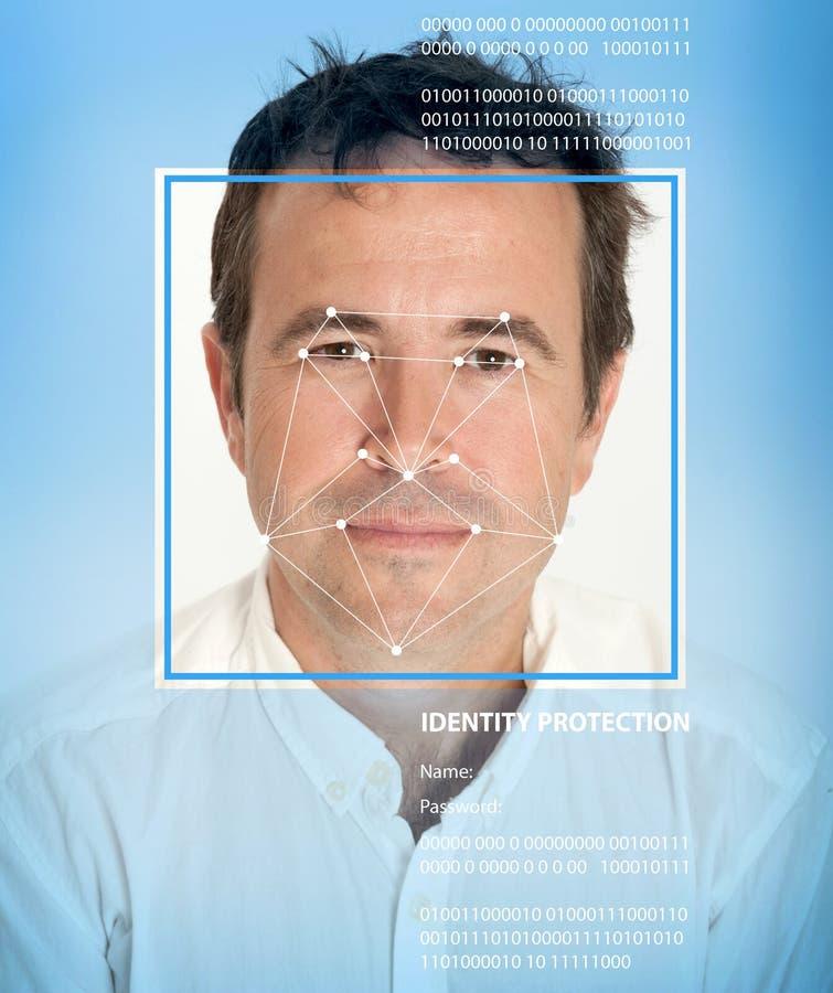 Biometrics, male stock photo. Image of mesh, facial, face ...