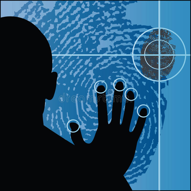 Biometrie stock illustratie