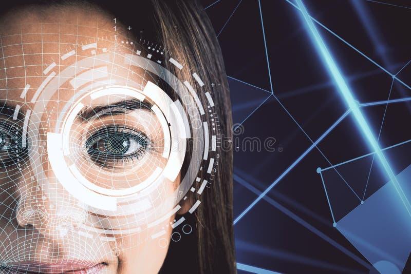 Biometrie en identiteitskaart-concept stock foto
