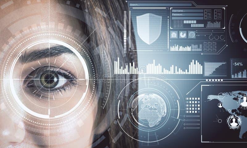 Biometrie en toekomstig concept stock foto's