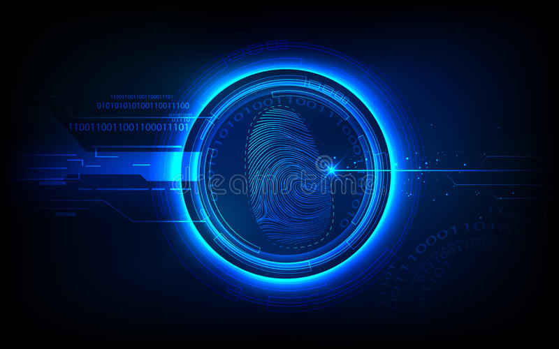 biometrii technologia royalty ilustracja