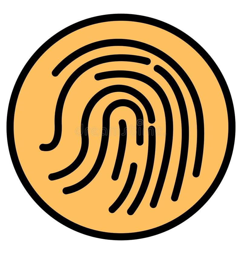 Biometrisch Geïsoleerd Vectorpictogram dat zich gemakkelijk kan wijzigen of uitgeven stock illustratie