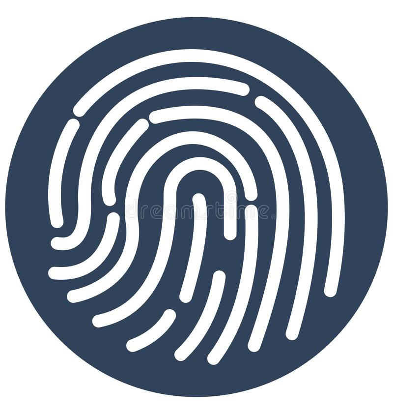 Biometrisch Ge?soleerd Vectorpictogram dat zich gemakkelijk kan wijzigen of uitgeven royalty-vrije illustratie