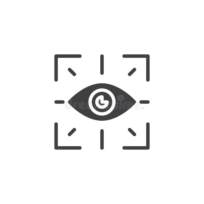 Biometrisch identificatie vectorpictogram stock illustratie