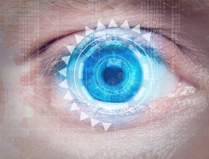Biometrisch oogaftasten royalty-vrije stock fotografie