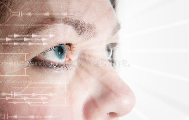 Biometrische het aftasteniris van het oog royalty-vrije stock afbeeldingen