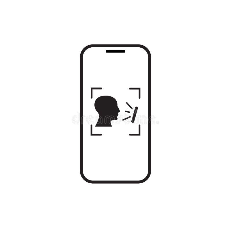 Biometrische het Aftastenpersoon van de Identificatie Slimme Telefoon, het Systeemconcept van de Gezichtserkenning vector illustratie