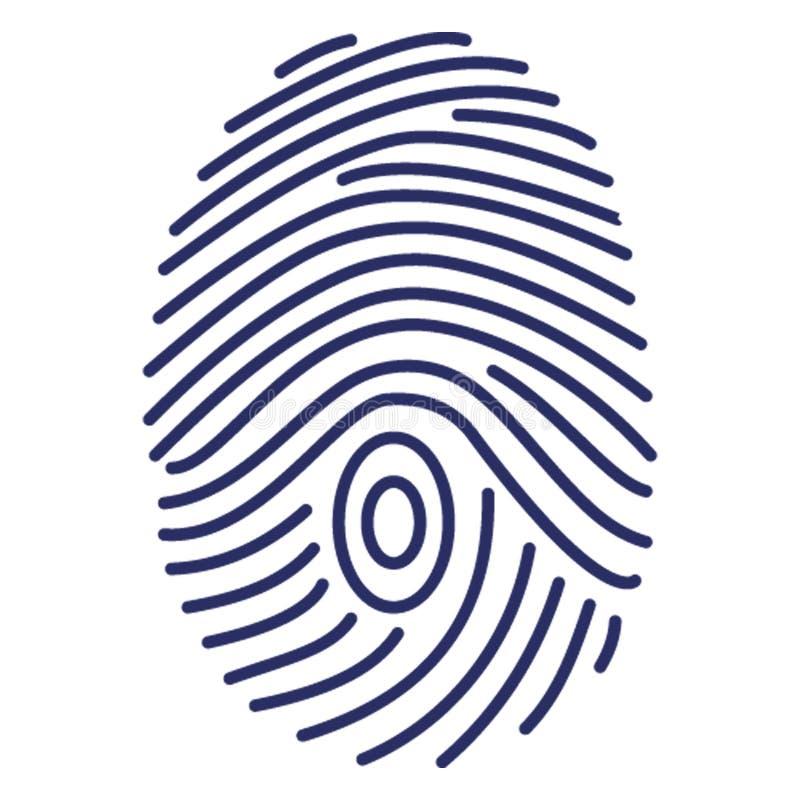 Biometrische identificatie, dactylogram Vectorpictogram dat zich gemakkelijk kan wijzigen of uitgeven royalty-vrije illustratie