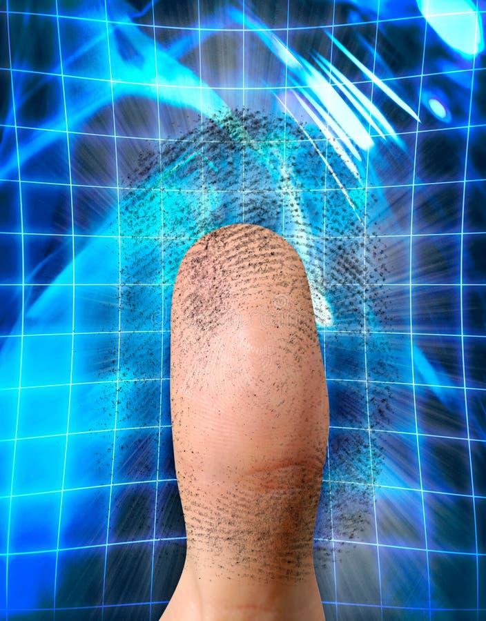 Biometrisches Kennzeichen stock abbildung