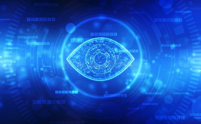 Biometrisches Siebungsauge, Digital-Auge, Sicherheitskonzept, Internetsicherheit Konzept stock abbildung