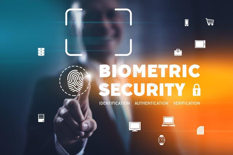 Biometryczny ochrony indentification, uwierzytelnienie i fotografia stock