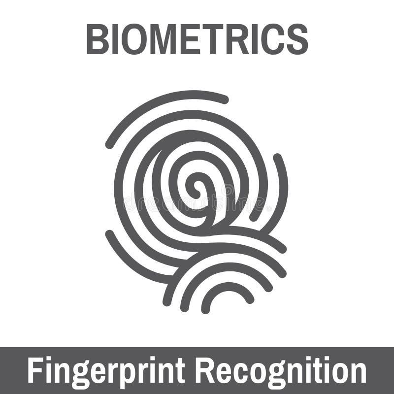 Biometryczny skanerowanie ilustracji