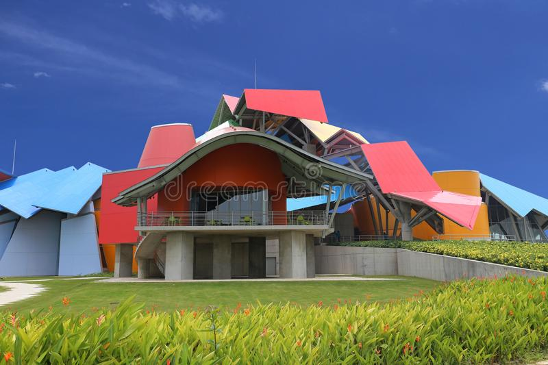 Biomuseo - Biodiversity Museum in Panama City by architect Frank Gehry Central America May 2015, Panama City, Panama. Panama City Biodiversity Museum, named royalty free stock photo
