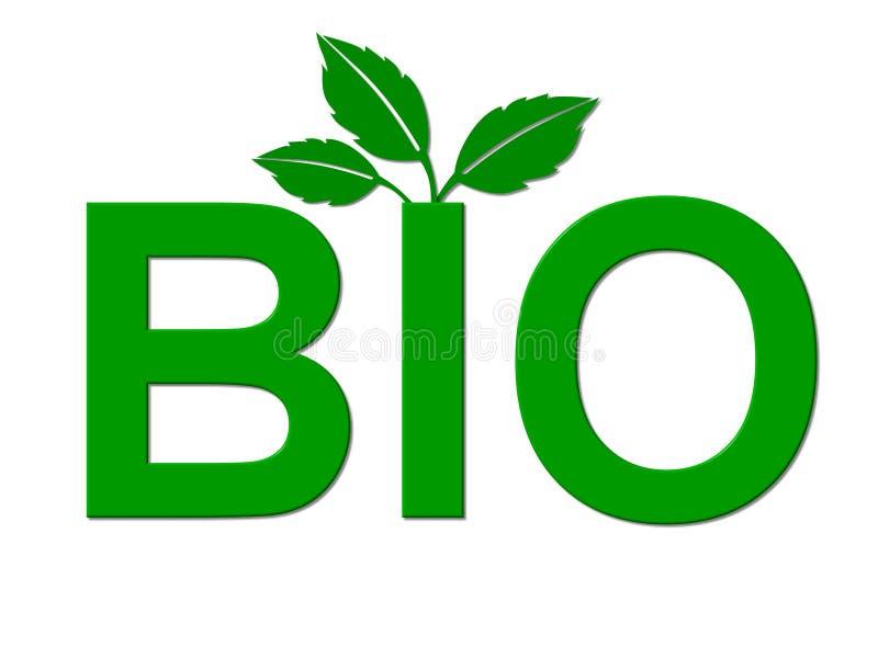 Bionahrungsmittelsymbol   lizenzfreie abbildung