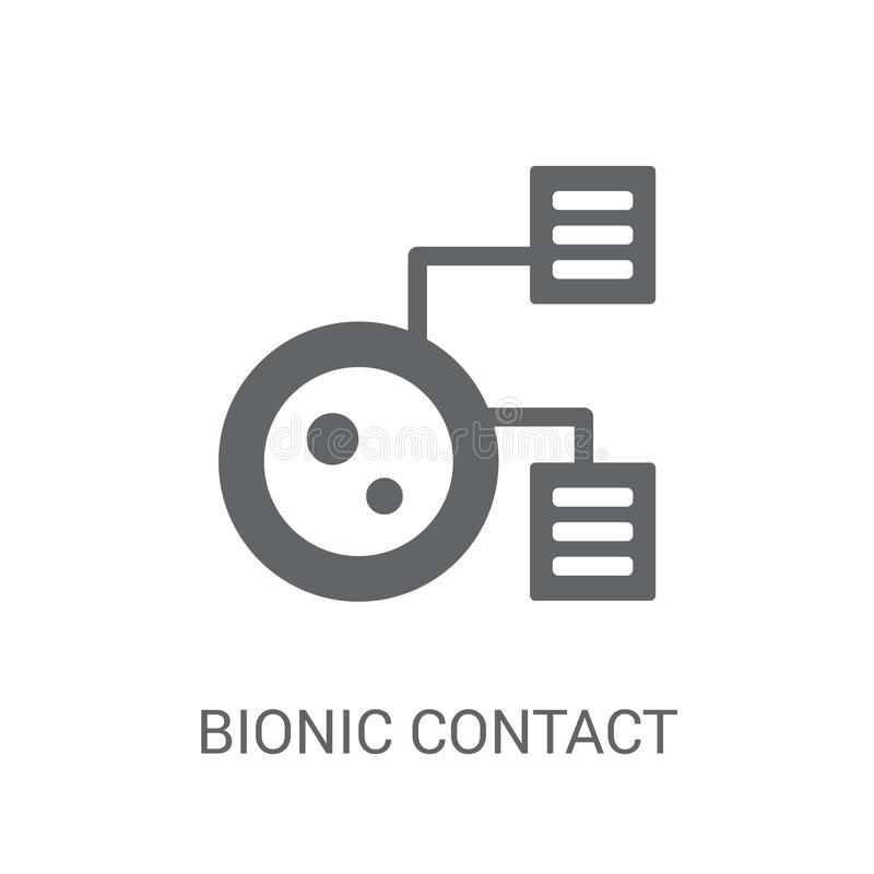 Bionic contact lens icon. Trendy Bionic contact lens logo concept on white background from Artificial Intelligence collection vector illustration