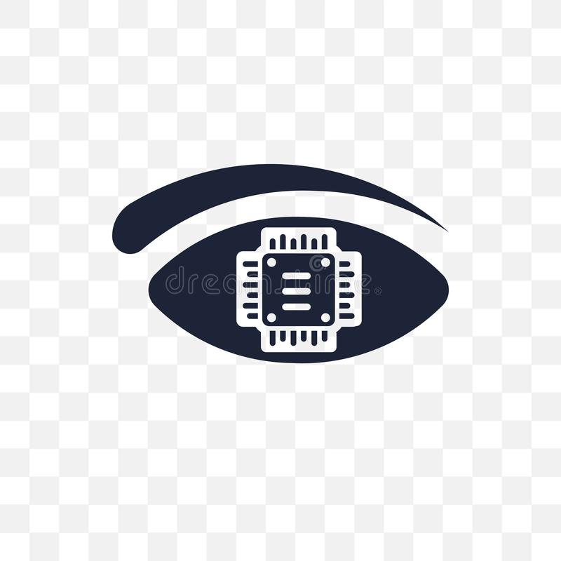 Bionic eye transparent icon. Bionic eye symbol design from Future technology collection. Simple element vector illustration. Can. Bionic eye transparent icon royalty free illustration