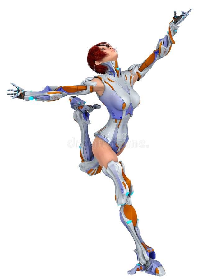 Bionic kvinnabalett vektor illustrationer