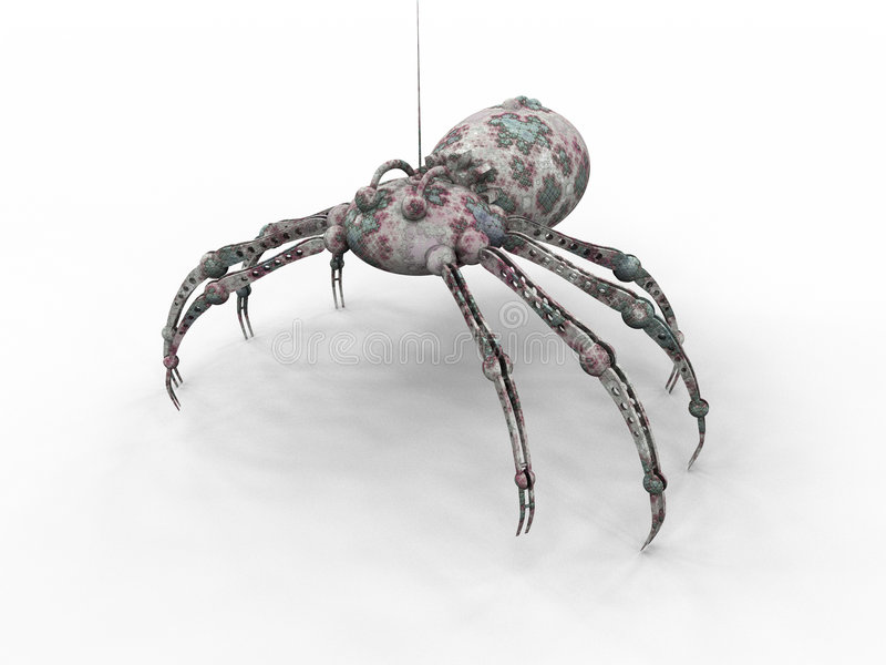 Download Bionic Spider stock illustration. Image of science, machine - 297461