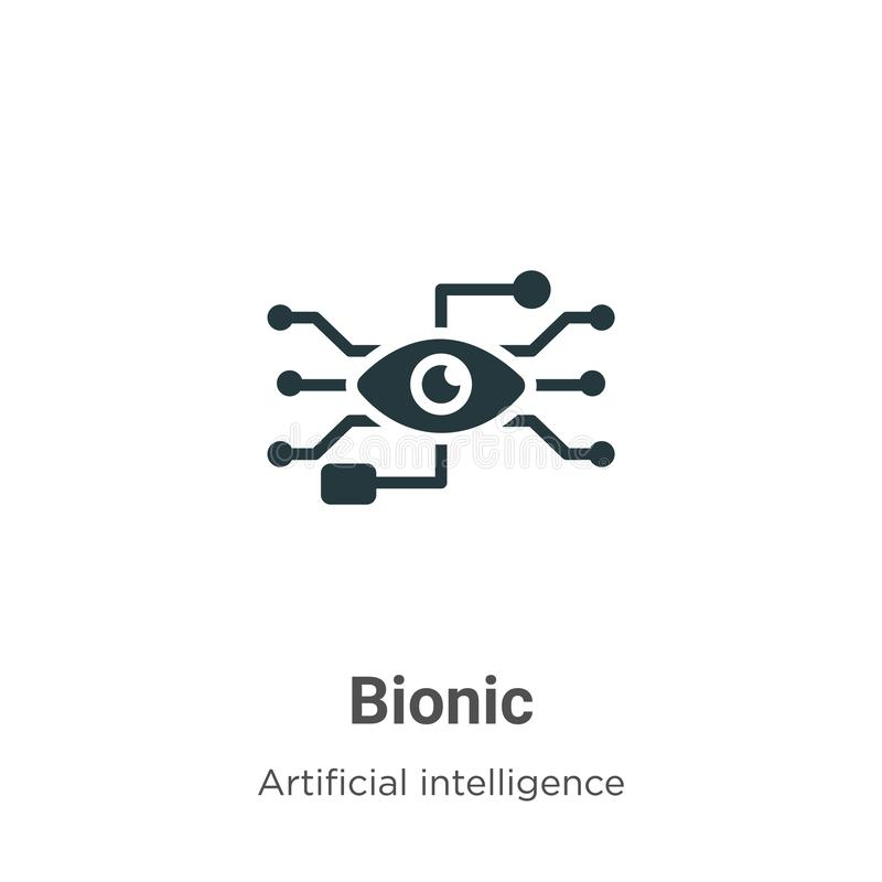 Bionisch vectorpictogram op witte achtergrond Flat vector bionic icon symbol sign van moderne augmented reality inzameling voor m stock illustratie