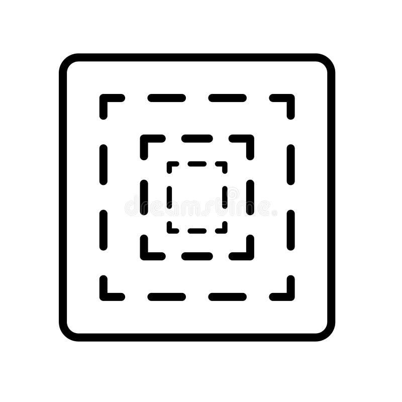 Bionischer Ikonenvektor lokalisiert auf weißem Hintergrund, bionischem Zeichen, Linie oder linearem Zeichen, Elemententwurf in de stock abbildung