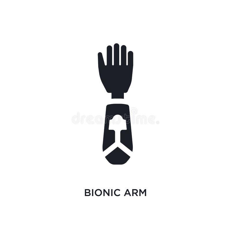 bionisk arm isolerad symbol enkel beståndsdelillustration från konstgjorda intellegencebegreppssymboler redigerbart logotecken fö vektor illustrationer
