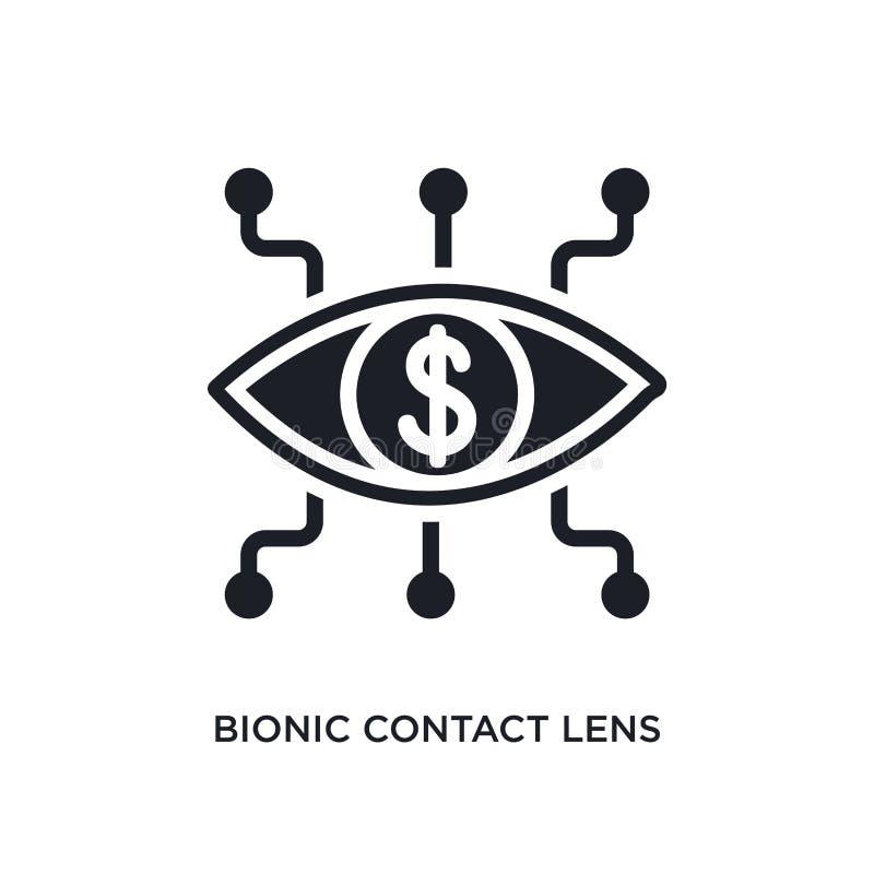 bionisk isolerad symbol för kontaktlins enkel beståndsdelillustration från crowdfunding begreppssymboler bionisk redigerbar logo  vektor illustrationer