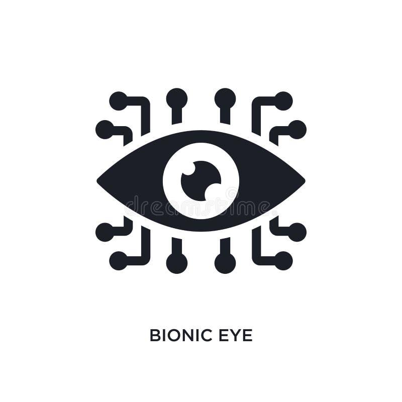 bioniskt öga isolerad symbol enkel beståndsdelillustration från konstgjorda intellegencebegreppssymboler redigerbart logotecken f royaltyfri illustrationer