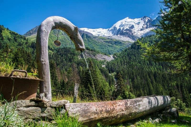 Bionnassay,haute savoie,france. Bionnassay,paysage des alpes francaise stock photography