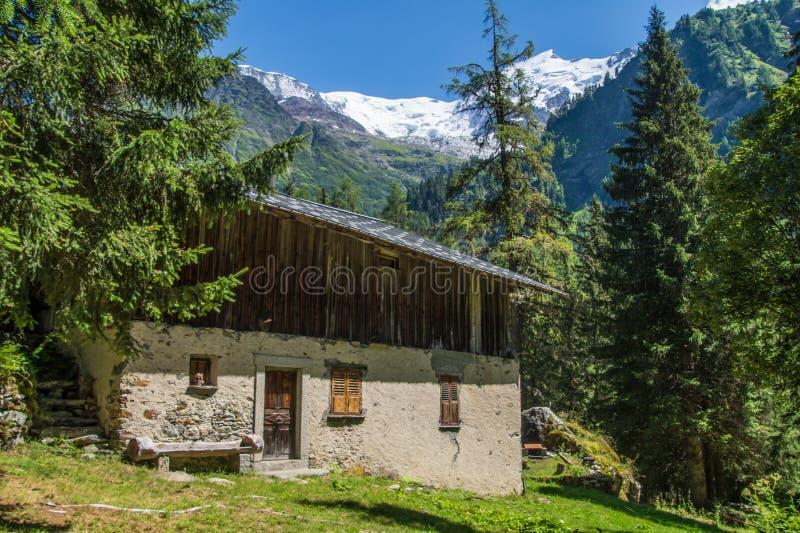 Bionnassay,haute savoie,france. Bionnassay,paysage des alpes francaise stock photos