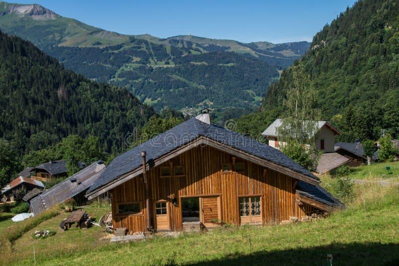 Bionnassay,haute savoie,france. Paysage des alpes francaise en savoie stock images