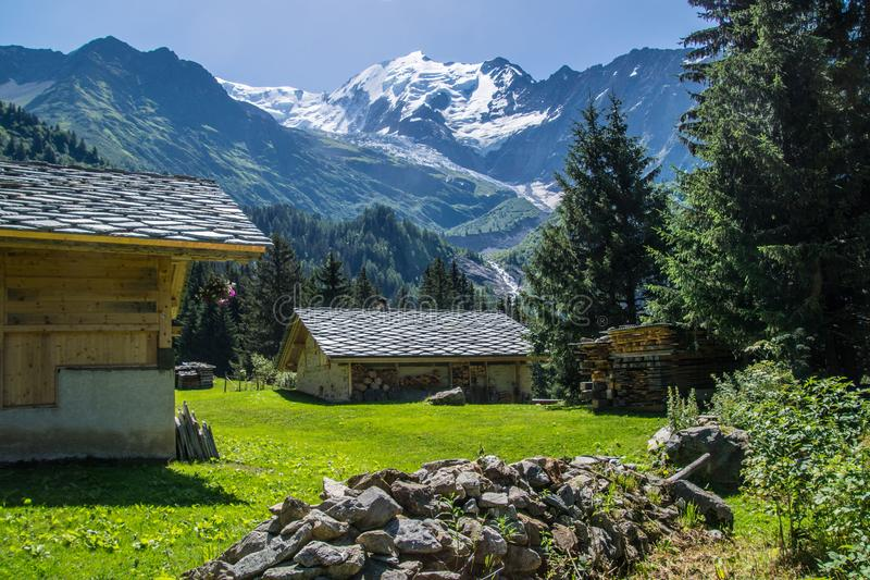 Bionnassay,haute savoie,france. Bionnassay,paysage des alpes francaise royalty free stock images