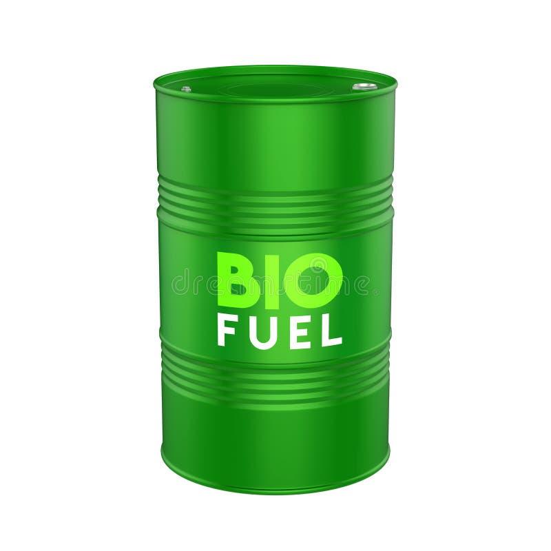 Biopaliwo baryłka Odizolowywająca ilustracja wektor