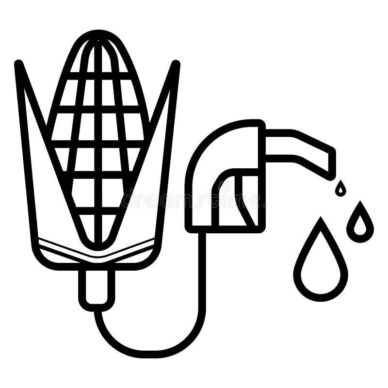 Biopaliwo - Biomass etanol, Robi? od kukurudzy royalty ilustracja