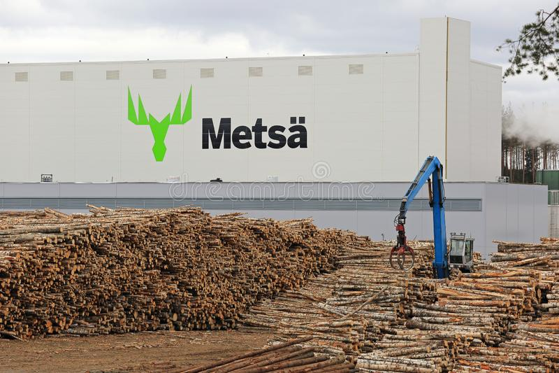 Bioproduct Mill van Metsa Group in Aanekoski stock afbeelding