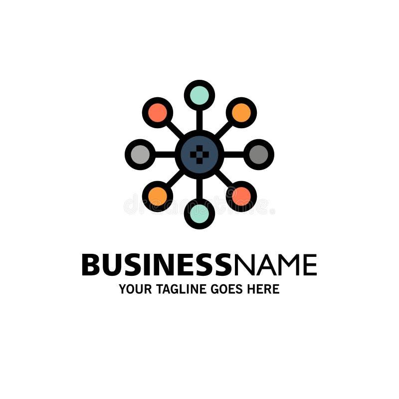 Bioquímica, biología, célula, negocio Logo Template de la química color plano stock de ilustración