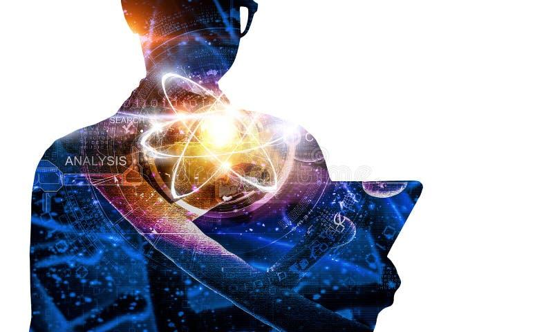 Bioquímica y tecnologías Técnicas mixtas stock de ilustración